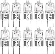 """G8 Halogen Light Bulbs 20W 120V G8 Base 2Pin Xenon Light Bulb T4 JCD Type,Shorter 35mm (1.38"""") Length,Warm White,10Pack"""