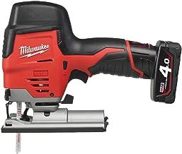 Milwaukee 4933441700 - C 12 js-402b caladora a batería 12v, 4,0 ah con carrera de 19mm, 0-2800 spm