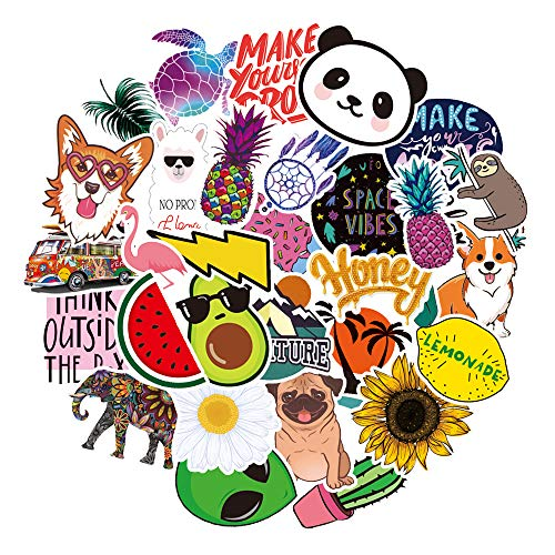 Stickers for Water Bottles Big 30pcs Waterproof Cute Aesthetic Trendy Stickers for Teens Kids Girls and Boys, Perfect for Hydro Flask Laptop Notebook Tablet Phone Car Travel Extra Durable 100% Vinyl