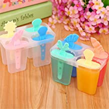 BALERINE Pan Popsicle-Maker Pop Mold Lolly 4-Cell Mould-Tray Kitchen-Tools Ice-Cream Frozen DIY