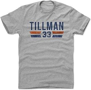 500 LEVEL Charles Tillman Shirt - Vintage Chicago Football Men's Apparel - Charles Tillman Font
