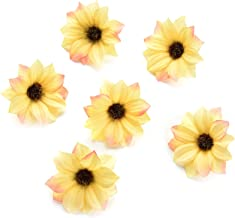 Fake flower heads in bulk wholesale for Crafts Silk Sunflower Daisy Handmake Artificial..