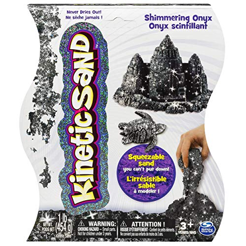Kinetic Sand The One and Only, 1lb Shimmering Black Onyx Magic Sand for Ages 3 and Up
