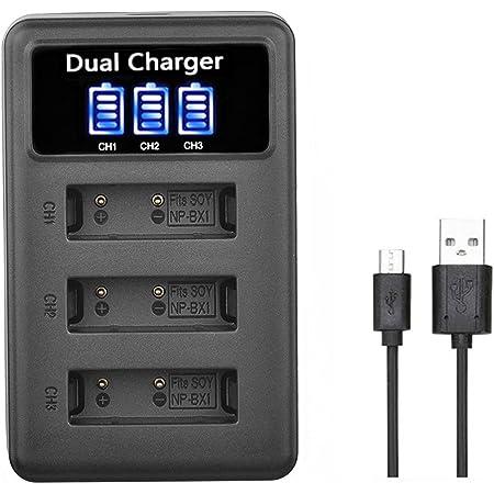 SHEAWA NP-BX1 充電器 USB充電 充電情報表示 ディスプレー付 バッテリーチャージャー Cyber-shot DSC-RX100、DSC-RX100 II、DSC-RX100M II、DSC-RX100 III、DSC-RX100 V、DSC-RX100 IV、HDR-CX405などに対応