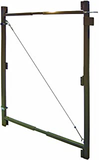 """Best Fence Walk Through Gate Kit - Adjust-A-Gate Steel Frame No Sag Gate Building Kit - This anti-sag gate kit is perfect for repairing existing sagging gates or building new ones. (36""""-60"""" wide openings up to 7"""