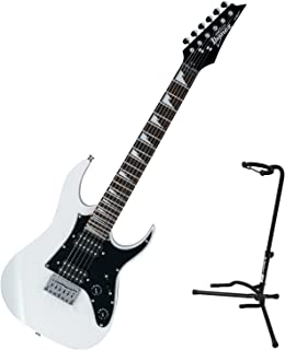 Ibanez GRGM21 Gio Mikro Electric Guitar White w/ Stand