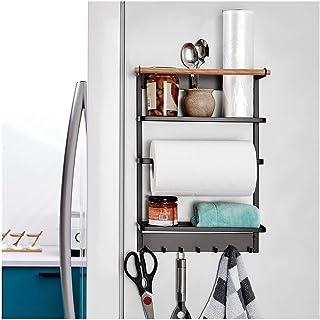 Organisateur de Rangement Cuisine réfrigérateur Support de Rangement Multifonctionnel Fournitures de Cuisine étagère latér...