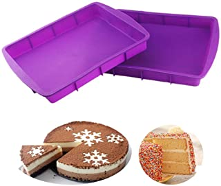 Orgrimmar 2 بسته پخت کیک مستطیلی سیلیکونی قابلمه Bakeware قالب پخت نان غیر استریک آسان Demoulding بنفش
