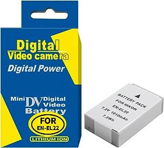RUISI EN-EL22 Digital Replacement Battery for Nikon 1 J4, 1 S2, Digital Camera