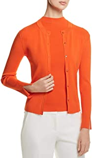 Hugo Boss Womens Button-Down Ribbed Cardigan Sweater