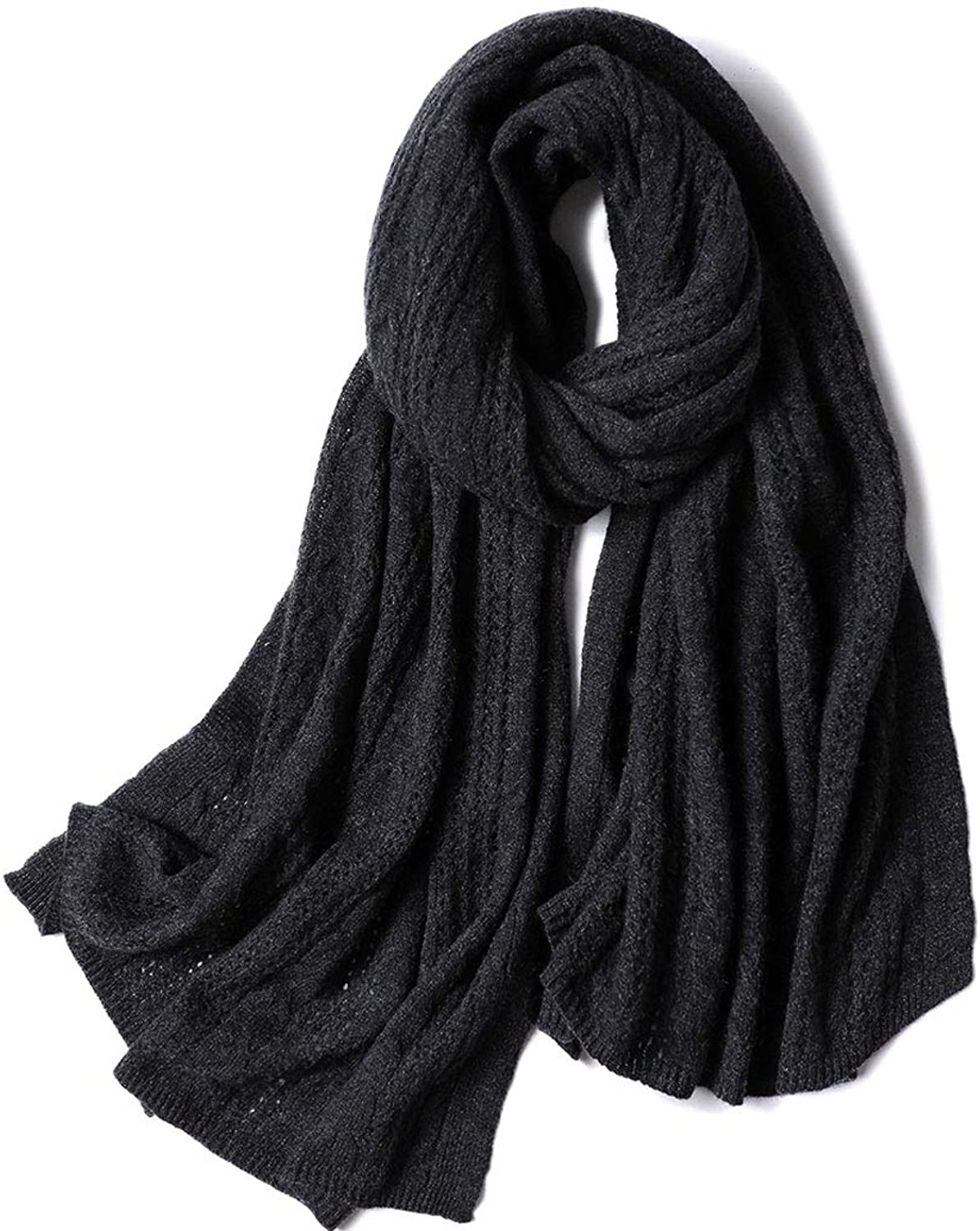 HUIFEI Cashmere Scarf Men's and Women's Autumn and Winter Scarves 18 New Large Shawl Fashion Gift Scarf 90  220CM (color   Black, Size   70  180CM)