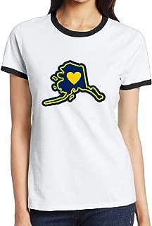 Jonesseller Women's Cotton Looking For Alaska Sport Short T-shirt Black