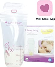 Direct-Pump Breastmilk Storage Bags with BreastMilk Management App by Love Baby, 50 Count