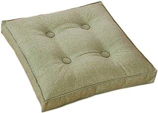 Cojín de asiento de mimbre, cojines de asiento de silla cuadrada para interiores y exteriores, cojines de muebles sólidos para patio en casa Cojín de asiento de piso decorativo (40x40 cm, verde hierb
