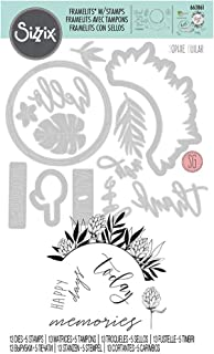 Sizzix Matrice de découpe Framelits/Tampons set de 13pcs Éléments tropicaux détaillés de Sophie Guilar, Multicolore, Taill...