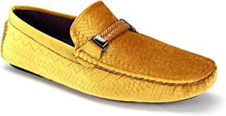 AFTER MIDNIGHT 6863 Mens Velvet Driving Moccasin with Braided Strap