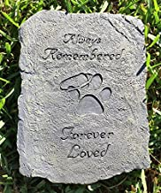 Always Remembered Forever Loved Dog Paw Print Memory Stepping Stone Halo Angel Design Bereavement Memorial Gift by Dog Speak