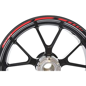 YAMAHA MT-10 Motorcycle Bike Wheel Rim Red Laminated Stripes Decals Stickers Kit