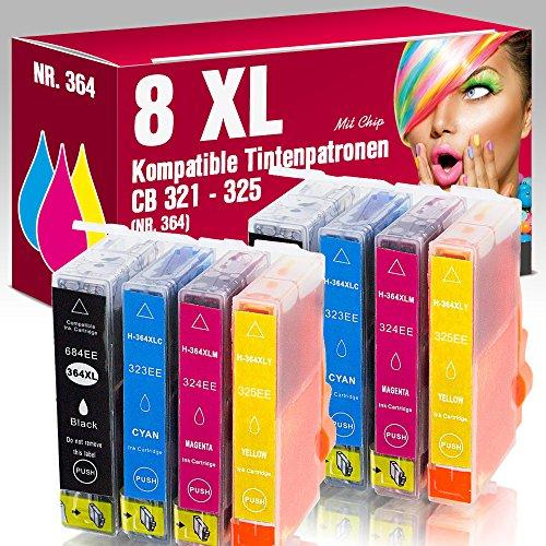 ms-point® 8 kompatible Druckerpatronen 364XL 364 für HP CB316EE CB323EE CB324EE CB325EE