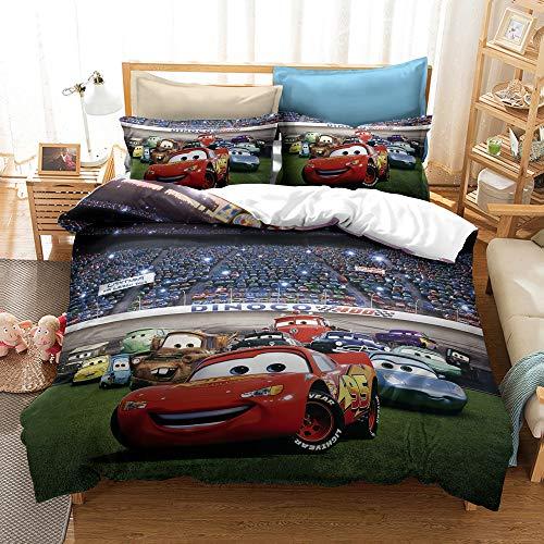 YBBY-U Juego de ropa de cama infantil de Disney's Cars · 2 piezas · 1 funda de almohada 75 x 50 + 1 funda nórdica (Y02,155 x 220 cm + 75 x 50 cm x2)