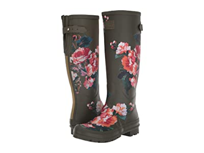 Joules Welly Print (Green Lakeside Rose) Women