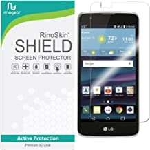 LG K8 / LG Escape 3 / LG Phoenix 2 (Updated Edge-to-Edge) Screen Protector RinoGear Case Friendly Screen Protector for LG K8 / LG Escape 3 / LG Phoenix 2 Accessory Full Coverage Clear Film