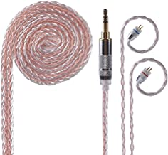 KZ 8 Core Silver Copper Mixed Upgrade Earphones Replacement Cable, 3.5 mm Audio Cable with 2pins 0.75mm Connector Detachable IEM Cable Fit for KZ BA10 AS10 ZS10 ZSR ZST ED12 ES3 ES4 ZSN (B PINS)