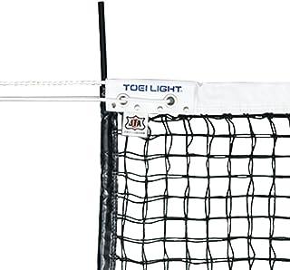 TOEI LIGHT(トーエイライト) 硬式テニスネット 幅106×長さ12,7m 網目3,5cm 無結節 スチールワイヤー14,3m 白帯ポリエステル センターベルト付 上部ダブルネット(サイドポール付) 日本テニス協会推薦品 B2285 B...