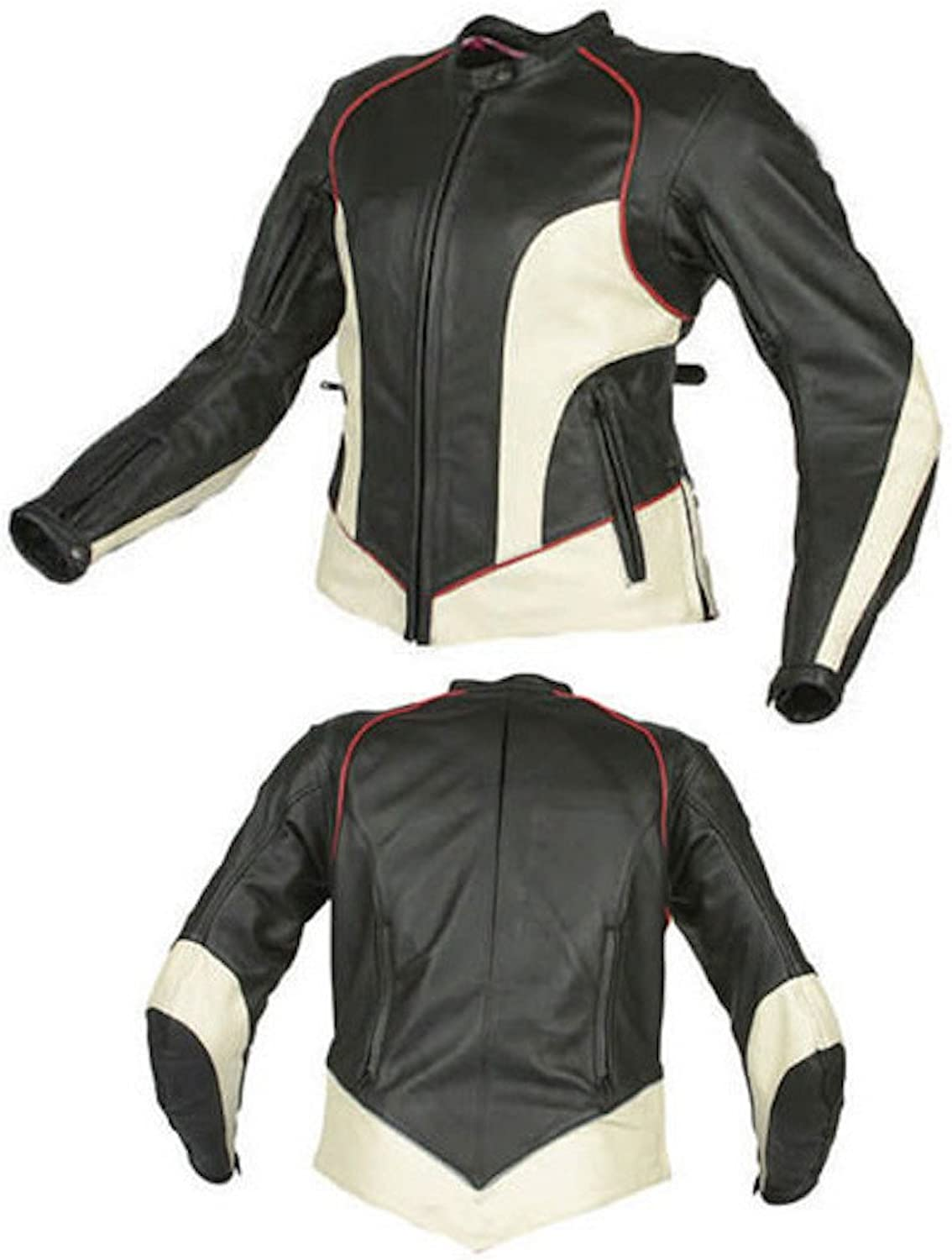 Fadcloset Womens Predective Biker Leather Jacket