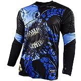 Rinat Erwachsene Jersey Kraken Fußball-Torwart-Trikot, Schwarz/Blau, XL