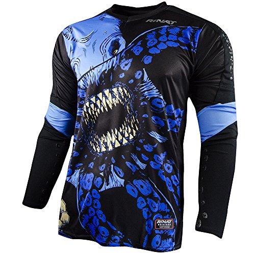 Rinat Kinder Jersey Kraken Fußball-Torwart-Trikot, Schwarz/Blau, S