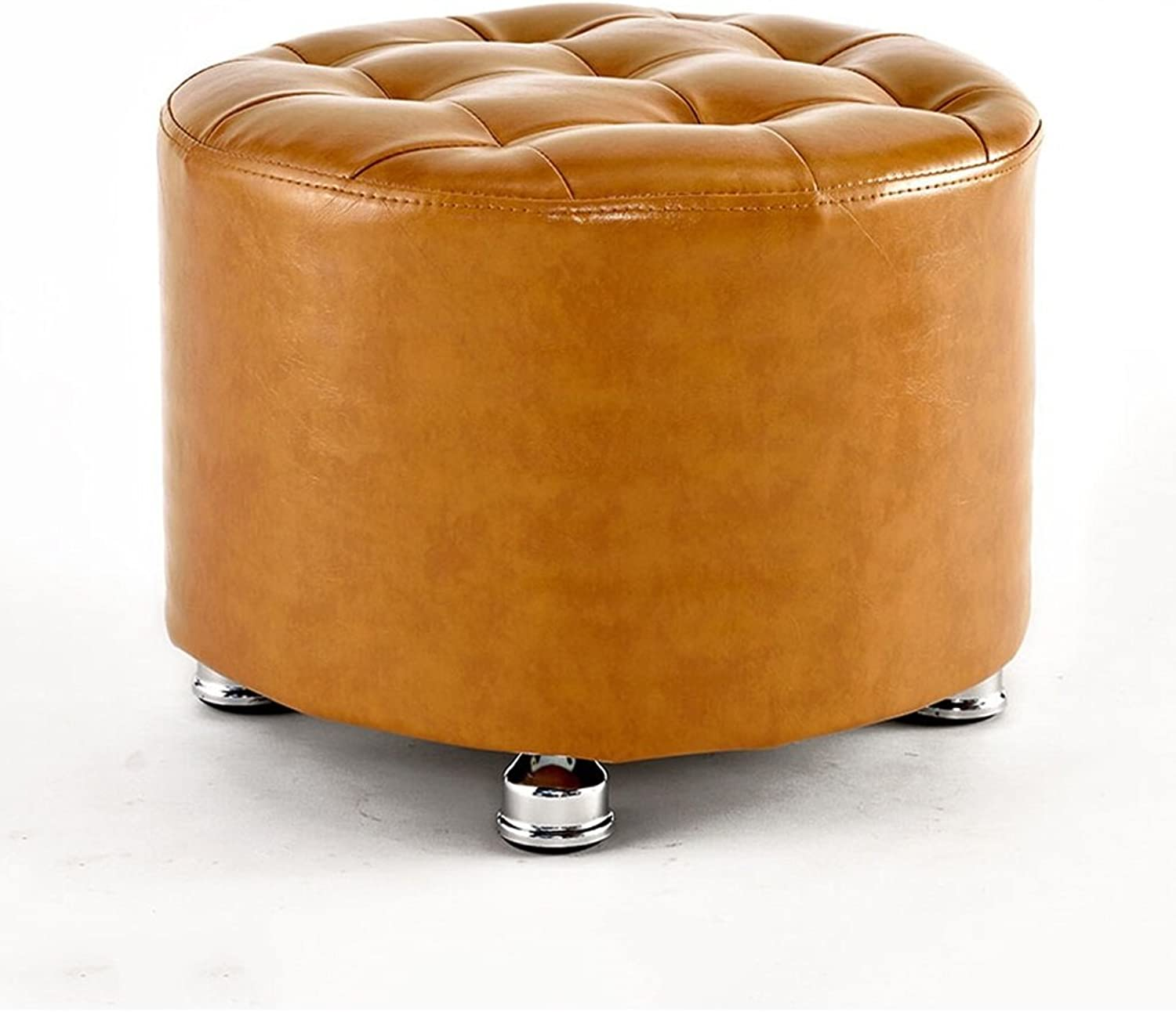 Footstools Footstool Round Solid Wood Stool Upholstered Footstool Solid Wood Dressing Stool Change shoes Bench Fashion Creative Sofa Bench (color    5)