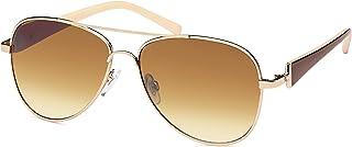 c1e40300b7 Balinco Femmes Lunettes de soleil aviateur lunettes de soleil avec Pierres  de stress & vernis Fer