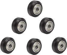 CCTREE 3D Printer POM V Slot Wheel Plastic Pulley Linear Bearing for Creality CR-7,CR-8,CR-10,CR10S,Ender(Pack of 6)