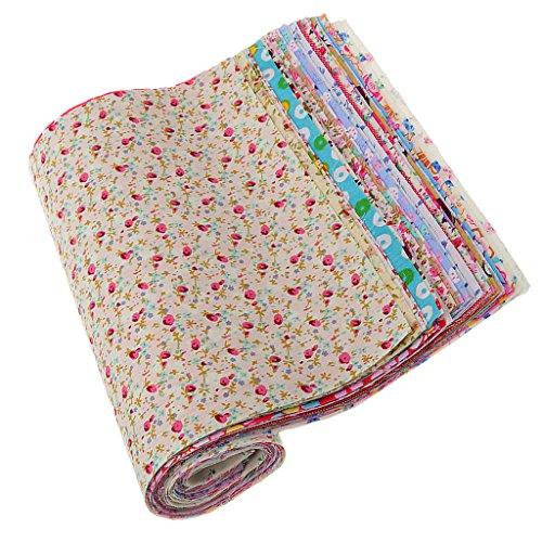 Homyl Lote 30 Mistura De Tecido De Algodão Impresso Floral Para Bonecas Sacos De Costura Artesanato 30 * 20 Cm
