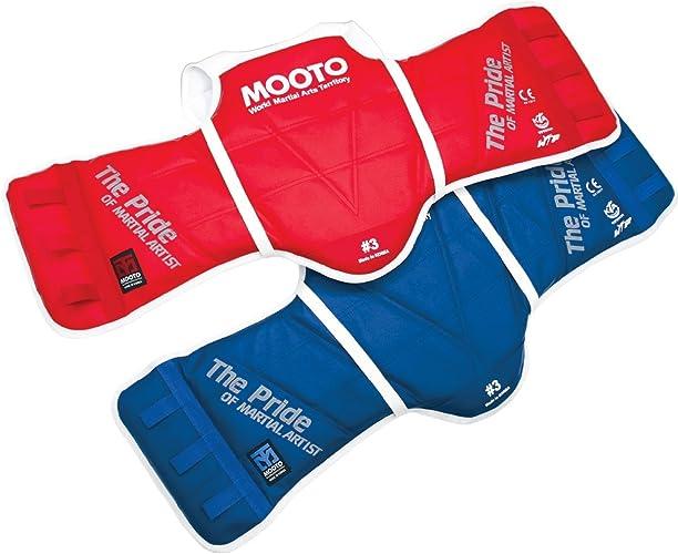 Mooto Taekwondo WTF Coffre Guard réversible Hogu 1à 5