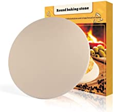 PentaBeauty Pizza Stone, 16''x 16'' Round Engineered Tuff Cordierite Durable Baking Stones for Ovens & Grill & BBQ, Stone Oven Round Pizza Stone