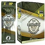 Twisted Hemp Wraps Plain Jane 4 Leaf per Pack Full Box 15 Packs