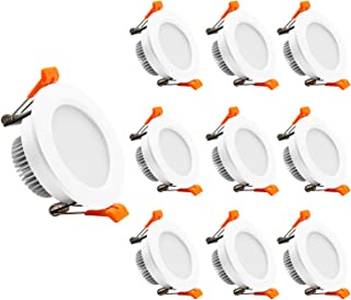 YGS-Tech 2 Inch LED Downlight Dimmable, 3W(35W Halogen Equivalent), 3000K Warm White, CRI80, LED Ceiling Light with LED Driver (10 Pack)