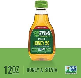 WHOLE EARTH SWEETENER CO. Honey 50, Organic Stevia & Organic Honey Blend, Sugar Substitute, Natural Sweetener, 12 Ounce