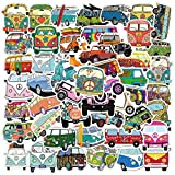 There are 50 different VW Surf Van Bus stickers Each is about 2-4 inches. Not repeated Best gift: This sticker is also a great gift idea for kids or your friends. Suitable for laptop, water bottle,Phone,car, computer,mobile phone case. 100% satisfact...