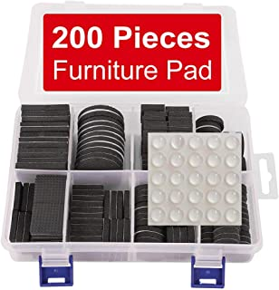 Furniture Pads 200 Pieces Furniture Pad Stopper Self Adhesive Square Square Rubber Pads Wood Floor Protector for Furniture Gripper on Hardwood Floor in a Case