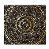 Cojines de Suelo Cuadrados,Cojín de Asiento de cojín de Silla,Arte árabe Antiguo Granate con Mandala Oriental Inspirado en el Ornamento,Sentado para Oficina,hogar,Suave Espesar