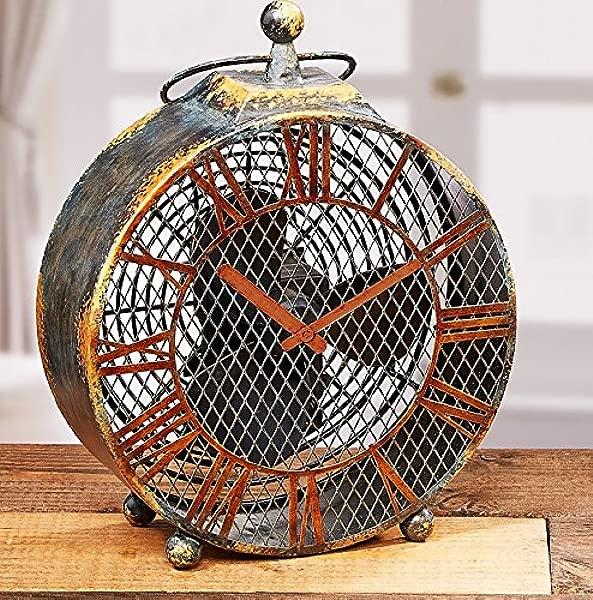 Deco Breeze DBF0125 Figurine Antique Clock Fan