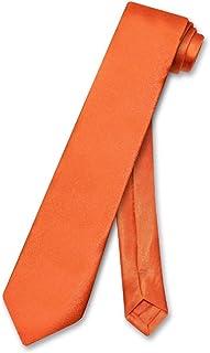 Biagio BOY'S NeckTie Solid BURNT ORANGE Color Youth Neck Tie