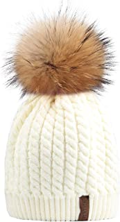 pink cashmere bobble hat