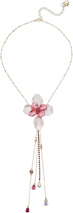 Floral Y-Shaped Necklace