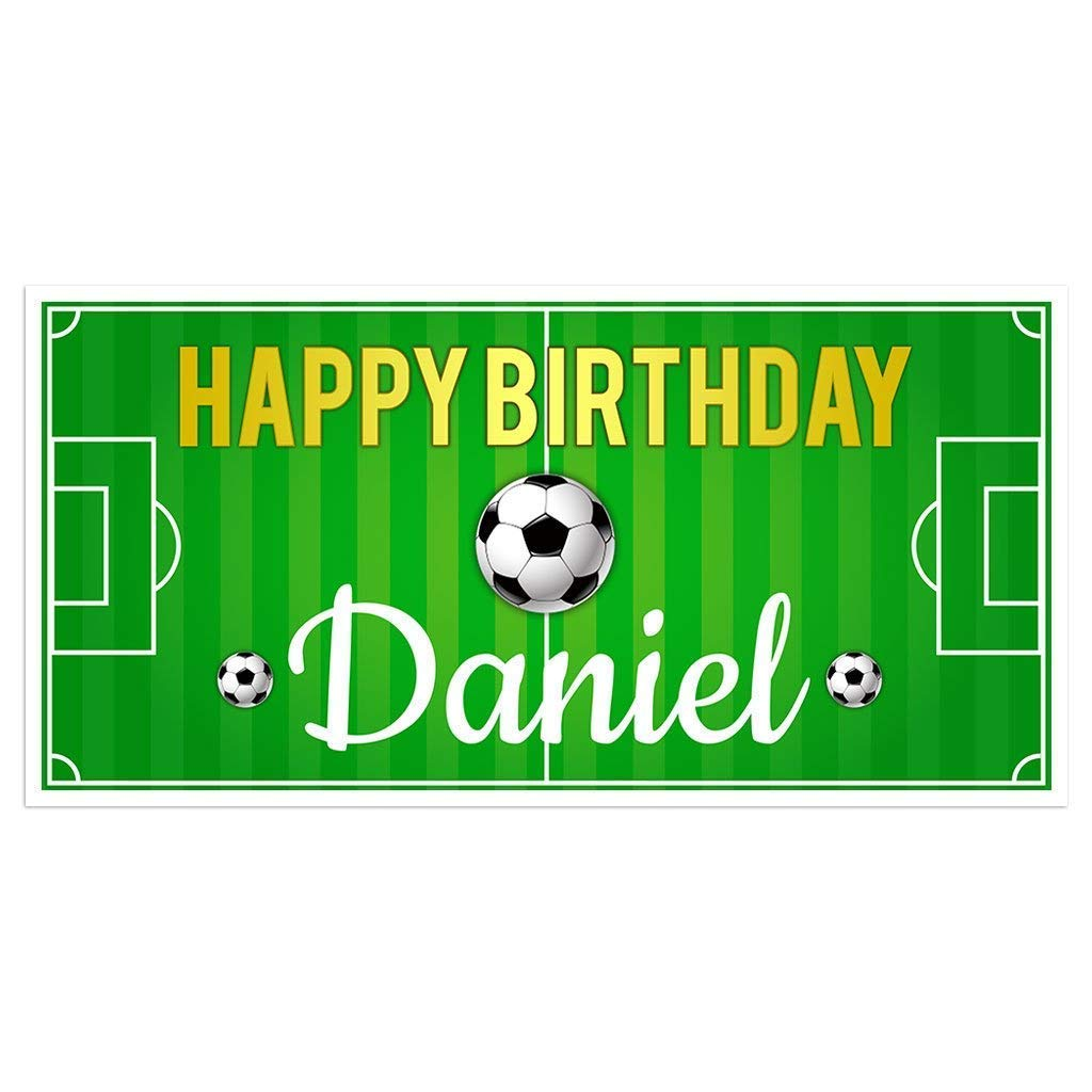 Soccer Field Birthday Banner Decorat Backdrop Personalized Party supreme 5 ☆ popular