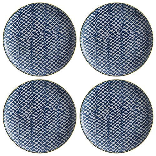 Maxwell & Williams Laguna - Piatti laterali in porcellana, 20 cm, 4 pezzi, colore: Blu