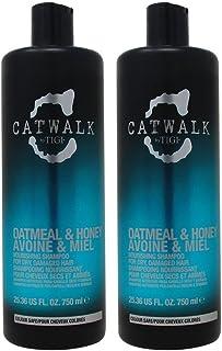 TIGI Catwalk Oatmeal and Honey Nourishing Shampoo for Unisex, 25.36 Oz with Pumps
